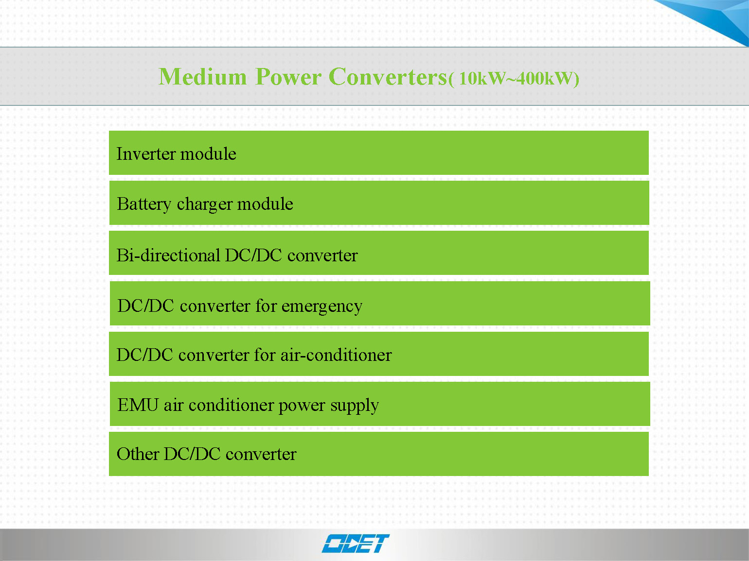 Medium Power converters